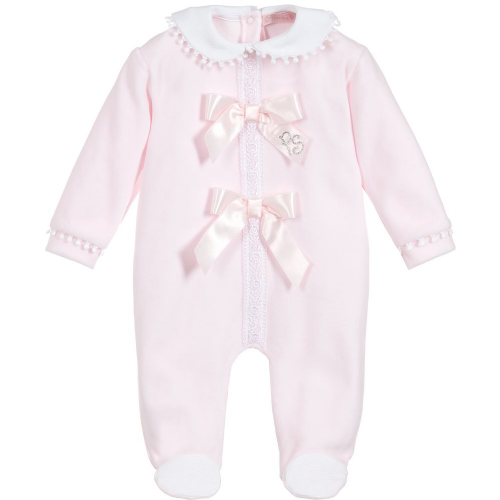 Piccola Speranza Girls Bow Babygrow